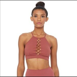 NWT ALO YOGA Starlet Lace Up Sports Bra